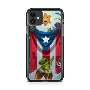 Puerto Rico Frog Symbol Flag iPhone 11 Case Cover