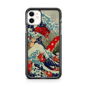 Pokemon Cool Japanese Wave Art iPhone 11 Case Cover