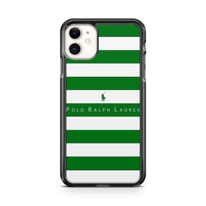 Polo Ralph Lauren Green Striped iPhone 11 Case Cover