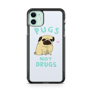 Pugs Not Drugs iPhone 11 Case Cover