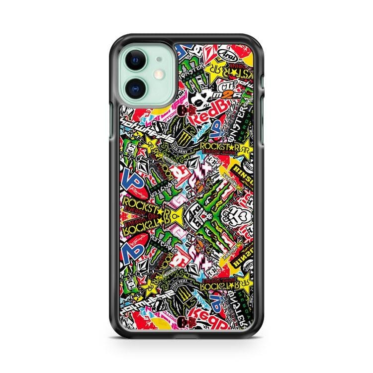 Racing Stikcerbomb Misfits Rockstar iPhone 11 Case Cover