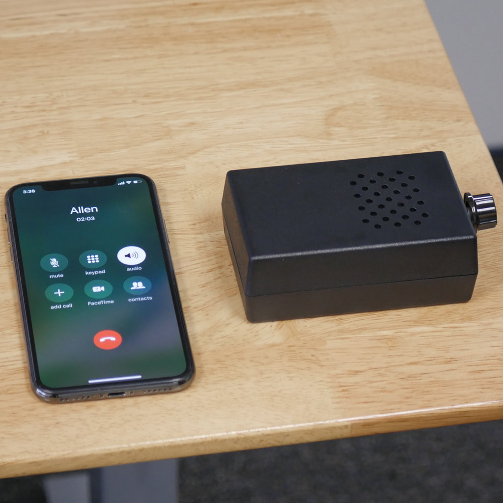 AJ-3 Audio Jammer In Use Near Phone During a Call