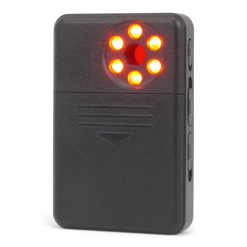 LM-8 Hidden Camera & Bug Detector Back View with Lights