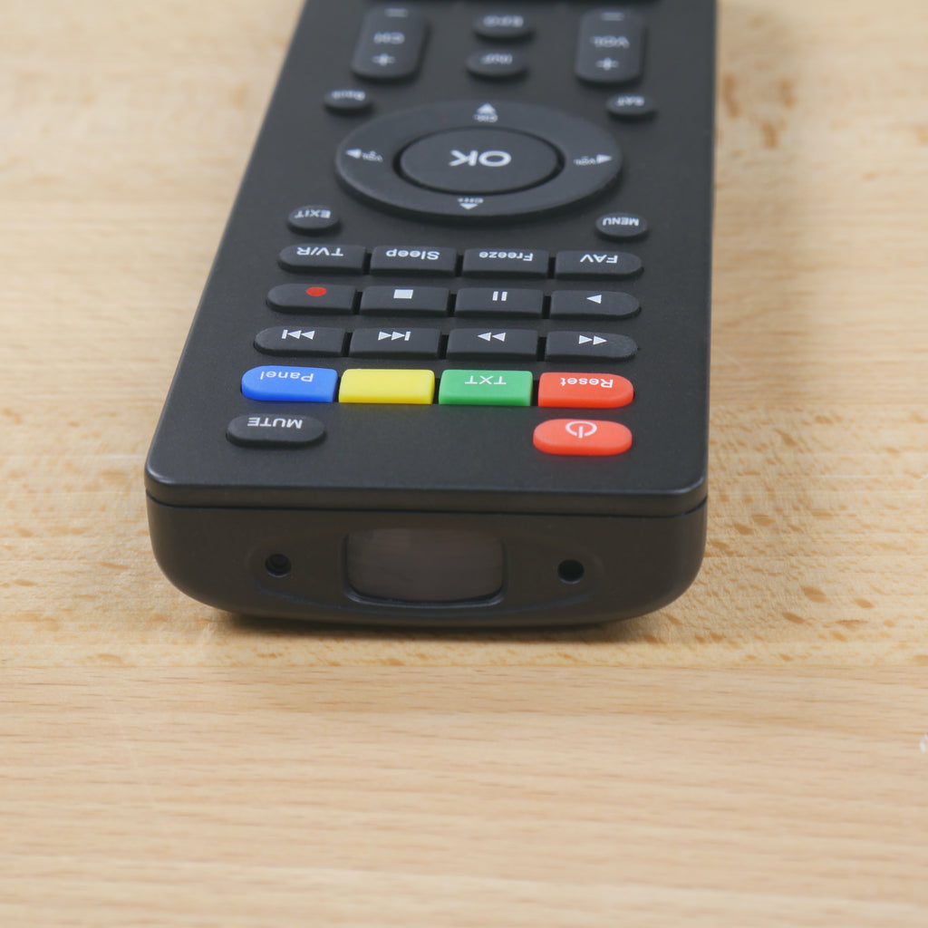 TV Remote Control Hidden Camera Lens Closeup