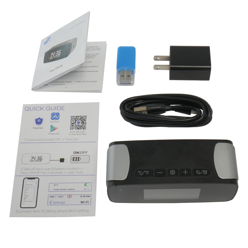 Mini Travel Alarm Camera With Accessories