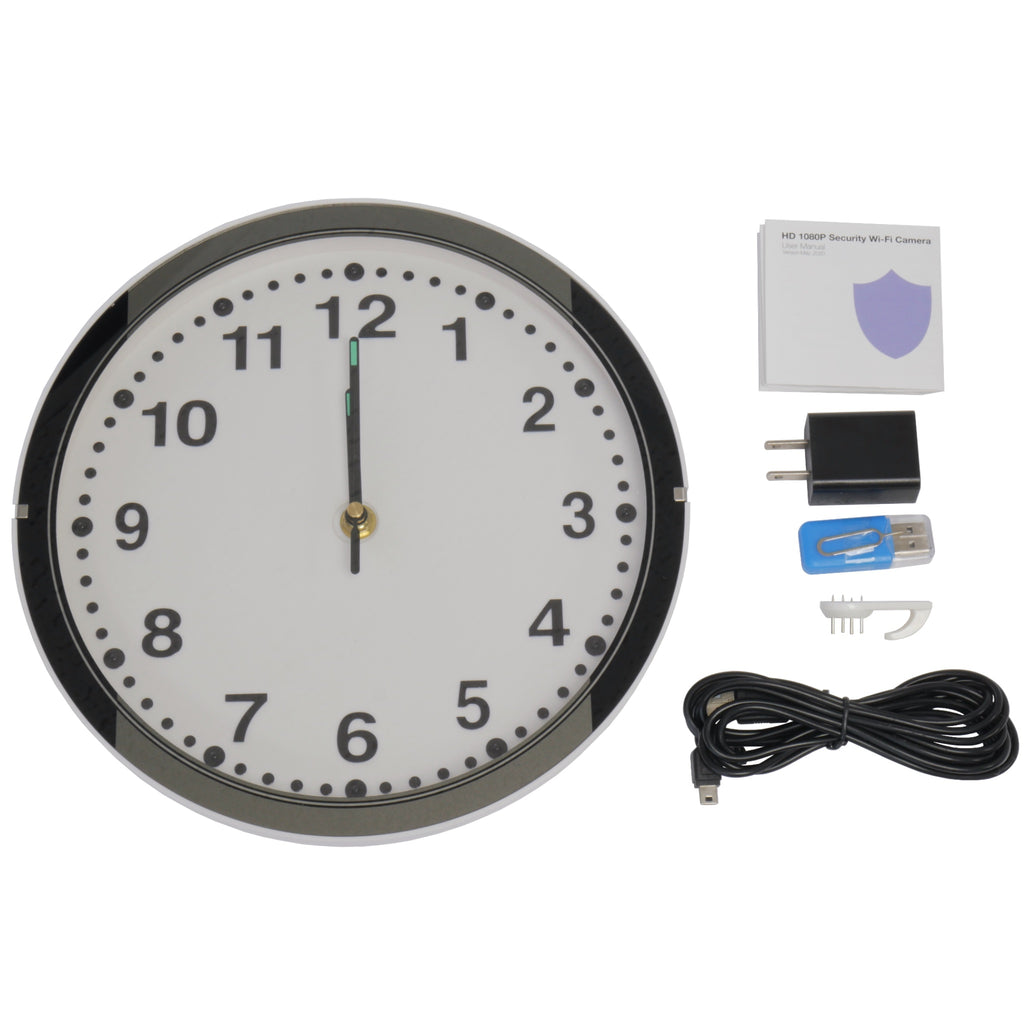 Wall Clock Speaker Camera With Accessories