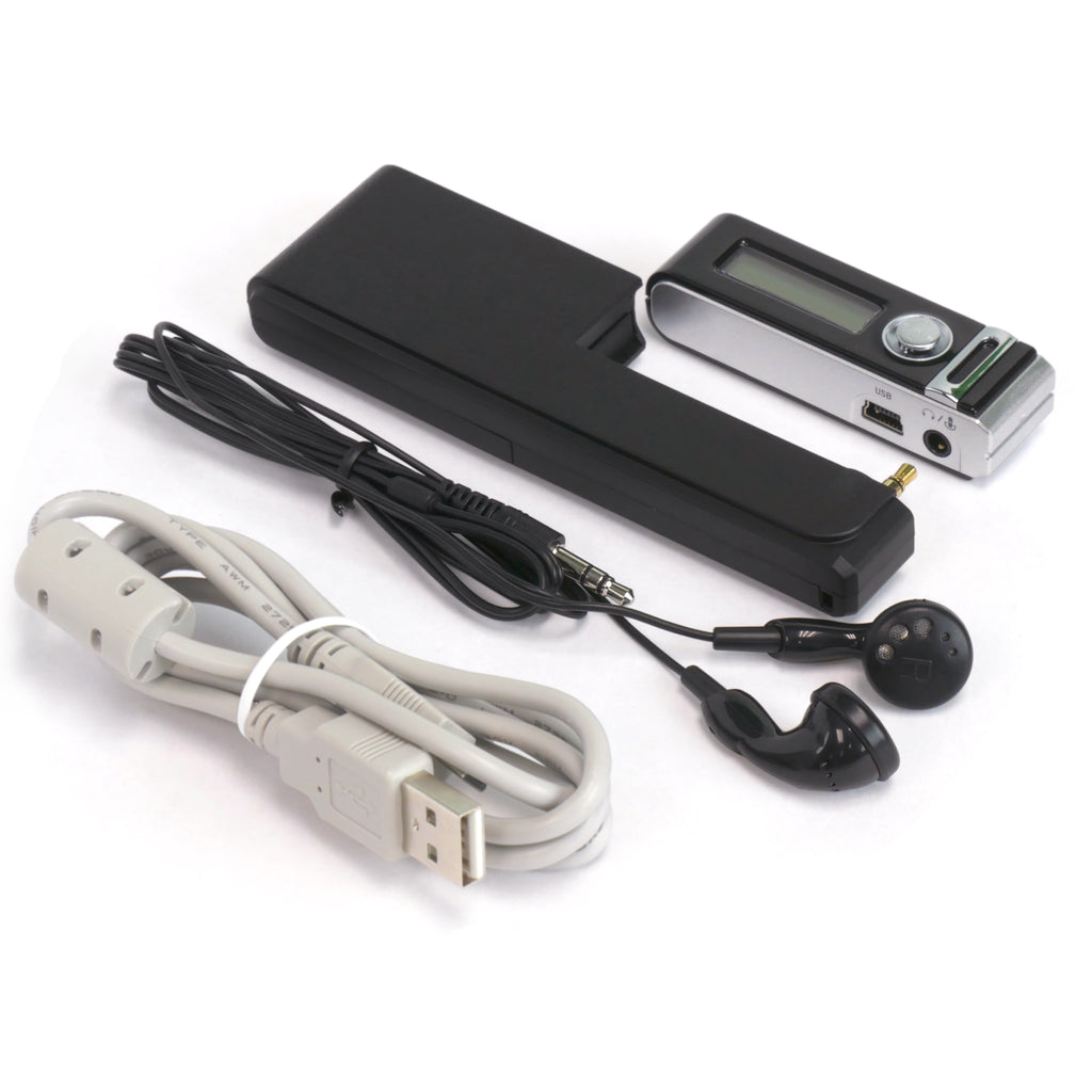 Micro Stick Voice Activated Audio Recorder with Accessories