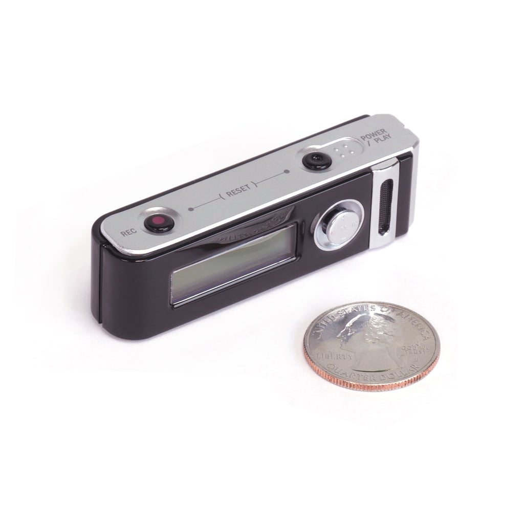 Micro Stick Voice Activated Audio Recorder and Quarter for Size
