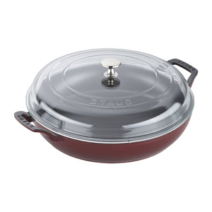 Staub Cast Iron 3.5-qt Braiser with Glass Lid - The Cook's Nook Gourmet Kitchenware Store Tulsa OK