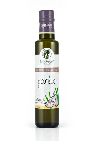 Ariston Garlic Infused Olive oil 8.45 fl oz - The Cook's Nook Gourmet Kitchenware Store Tulsa OK
