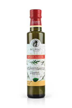 Ariston Mediterranean Herbs Olive oil 8.45 fl oz - The Cook's Nook Gourmet Kitchenware Store Tulsa OK