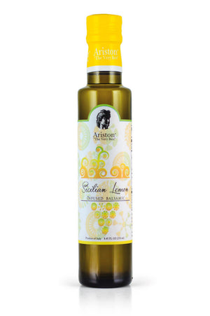 Ariston Sicilian Lemon Infused White Balsamic 8.45 fl oz - The Cook's Nook Gourmet Kitchenware Store Tulsa OK