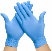 NITRILE Soft Powder Free Exam rubber Gloves -100 Pcs - disposable  - Small,Blue