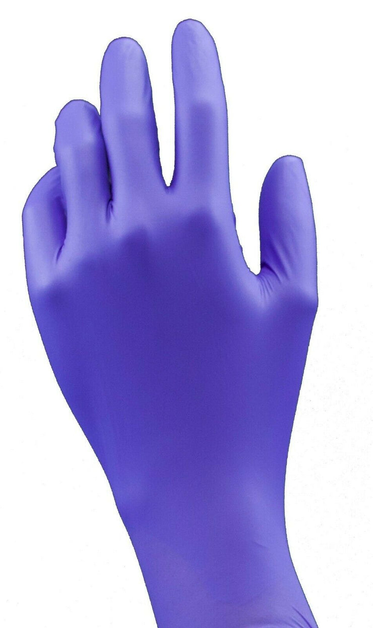 100 Pcs NITRILE Powder Free Exam rubber Gloves - disposable - Medium Blue