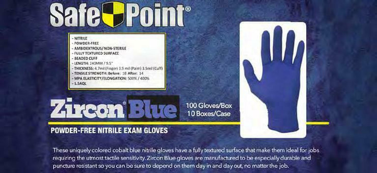 NITRILE Powder Free Exam rubber Gloves -100 Pcs - disposable  - Medium Blue