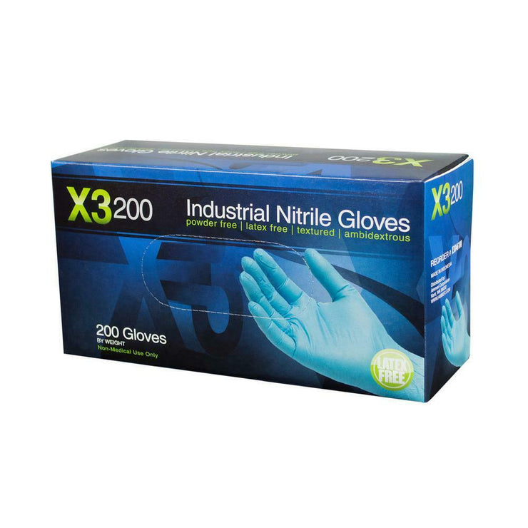 NITRILE Disposable Powder Free Latex Free gloves 200 Pcs  Large Blue