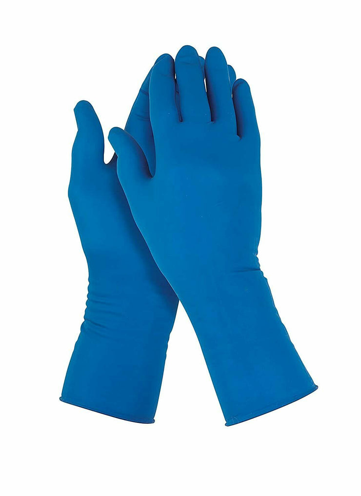 Neoprene Protection Gloves Powder free better than NItrile 50 Pcs- BLUE X-Large
