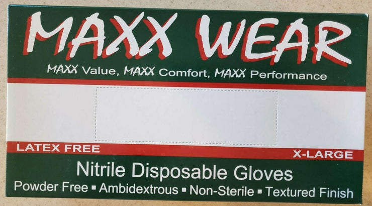 NITRILE disposable rubber Powder Free gloves USA  50 Pair/100 Pcs  X-Large Blue