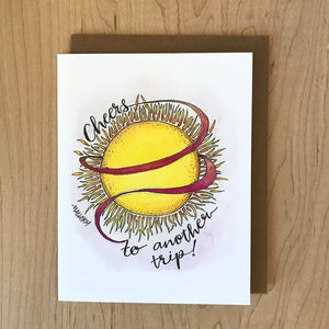 Trip Around the Sun Card