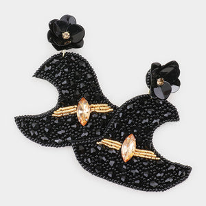 Beaded Witch Hat Earrings