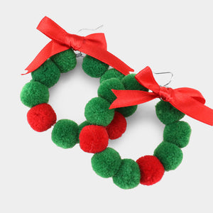Christmas Wreath Dangle Earrings