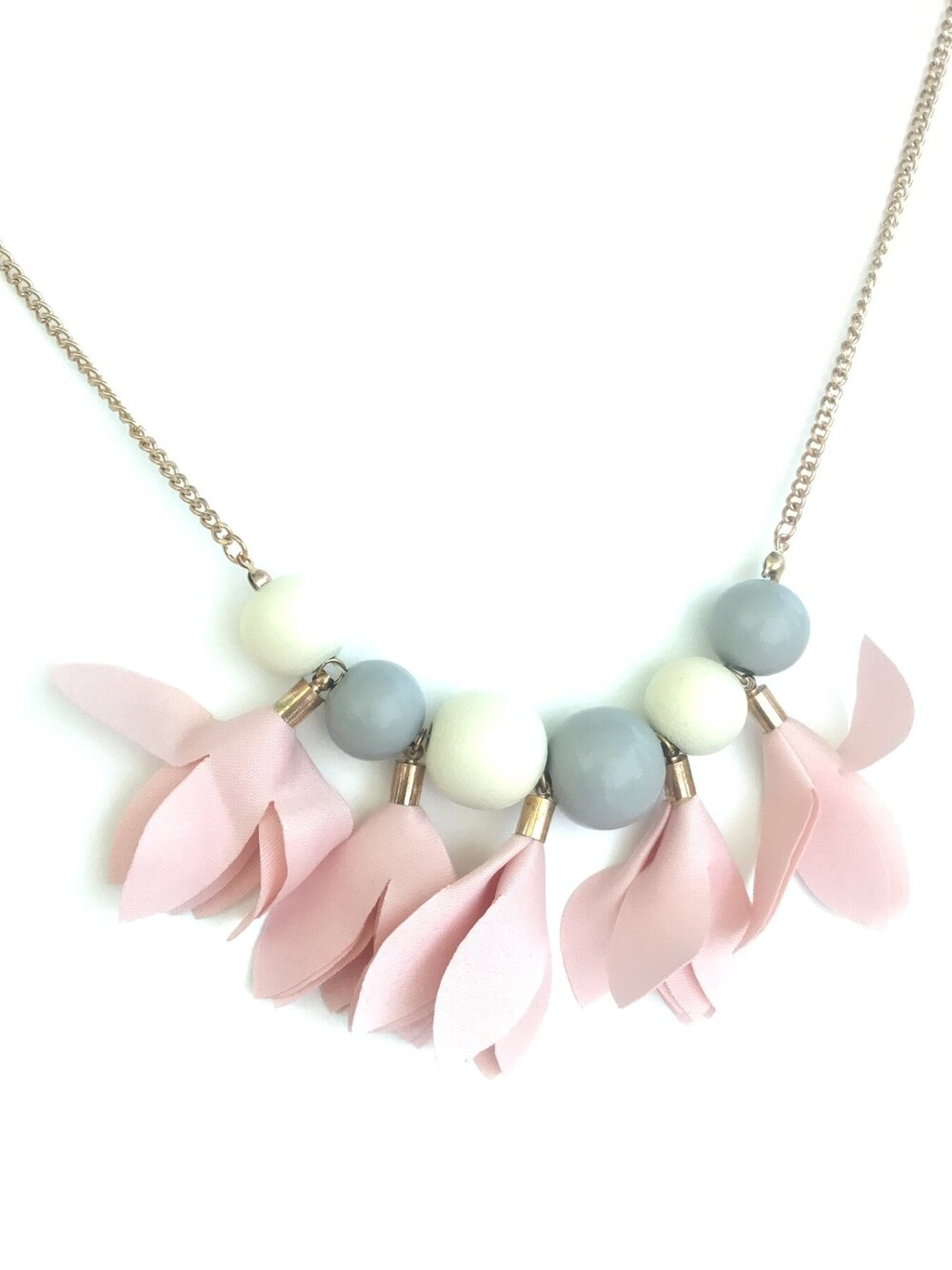Pink Petal Necklace