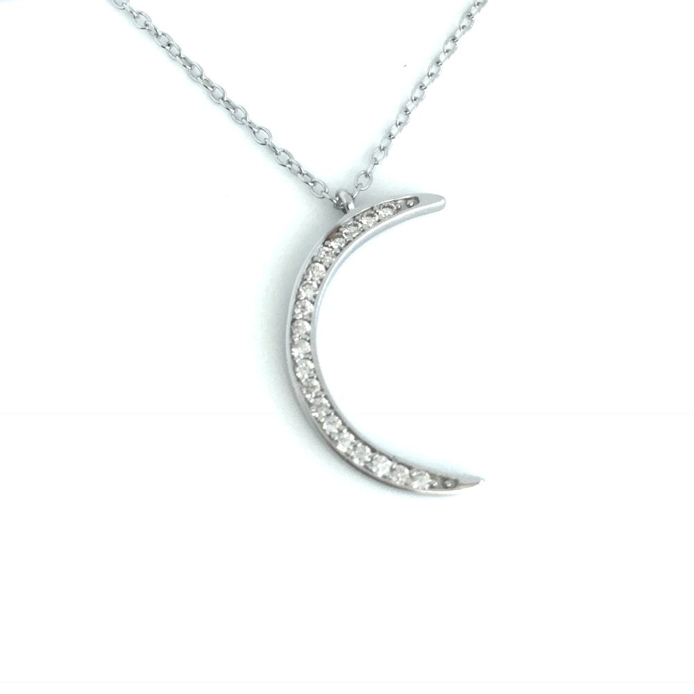 Moon Necklace - Sterling
