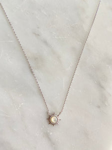 Sterling White Sun Necklace