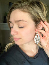 Load image into Gallery viewer, Spotted Leather Earrings