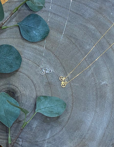 Bicycle Dainty Necklace