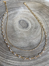 Load image into Gallery viewer, CZ Layered Chain Necklace