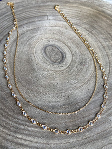 CZ Layered Chain Necklace