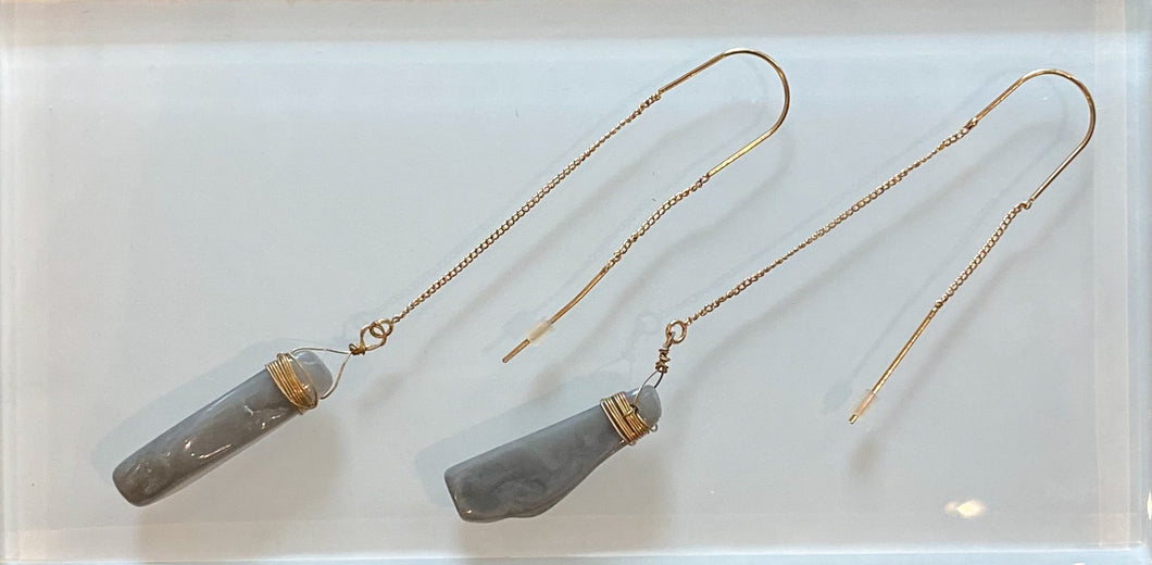 Stone Threader Earrings