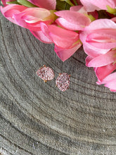 Load image into Gallery viewer, Rose Gold Druzy Studs