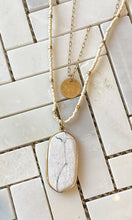 Load image into Gallery viewer, Long Layered Beaded Stone Necklace
