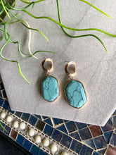 Load image into Gallery viewer, Marble Oblong Earrings