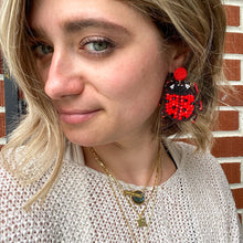 Load image into Gallery viewer, Lady Bug Statement Earrings
