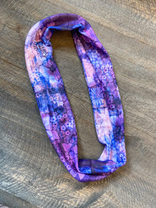 Thin Headband - Purple Watercolor