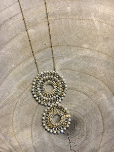 Two-Tiered Beaded Necklace