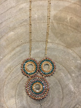 Load image into Gallery viewer, Three-Tiered Beaded Necklace