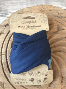 Wide Headband - Navy