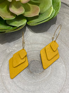 Geometric Clay Drops - Yellow