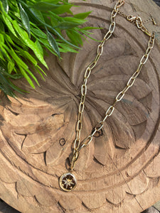 Chain Link Pendant Necklace