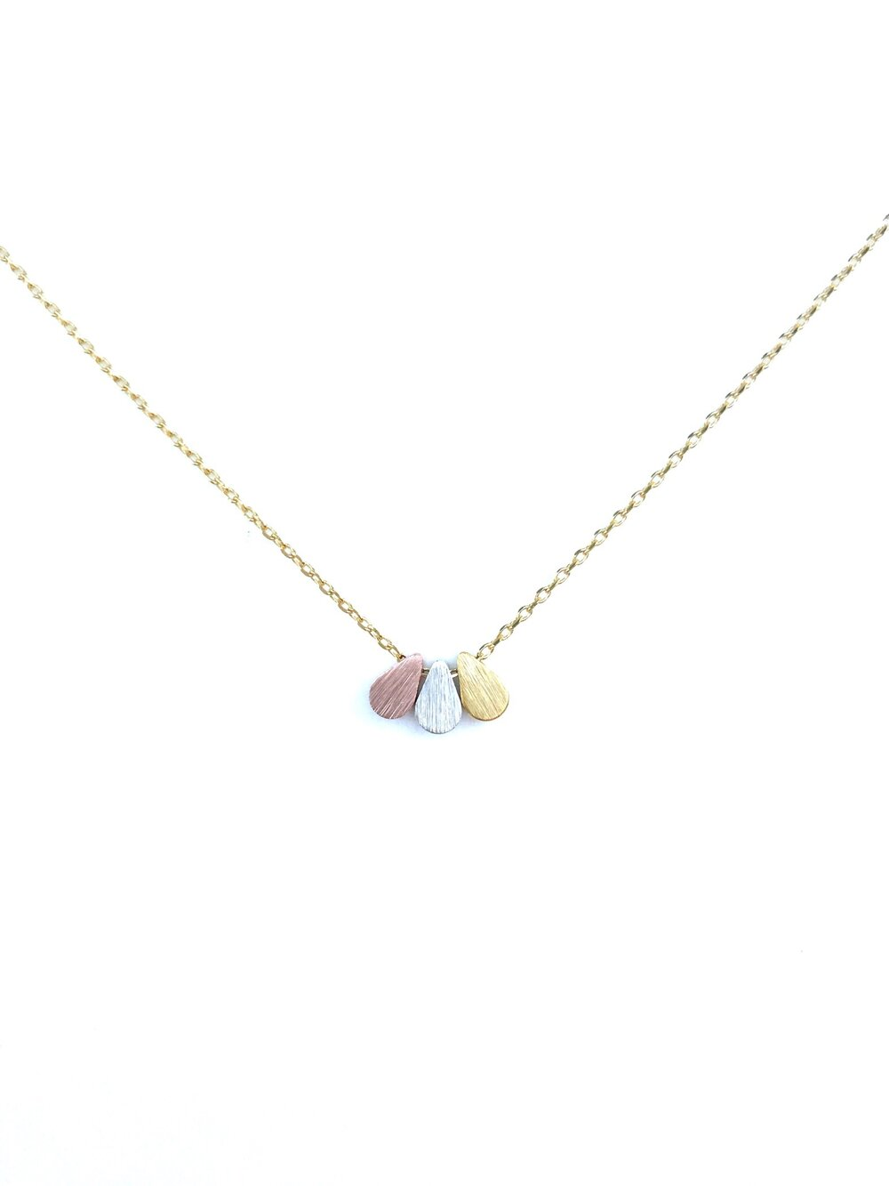 Triple Teardrop Dainty Necklace