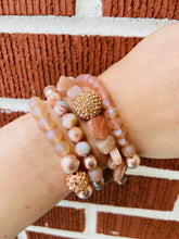 Load image into Gallery viewer, Stone and Beaded Wrap Bracelet