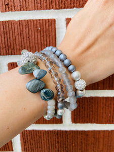 Stone and Beaded Wrap Bracelet