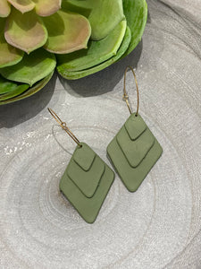 Geometric Clay Drops - Green