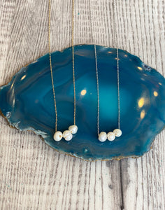 Tri-Pearl Dainty Necklace
