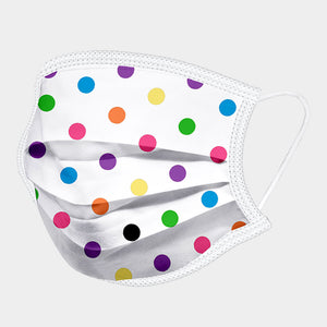 Polka Dot Print Cotton Fashion Mask