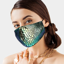 Load image into Gallery viewer, Snake Skin Pattern Print Face Mask